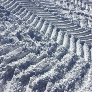 I love the tire tracks in the snow!