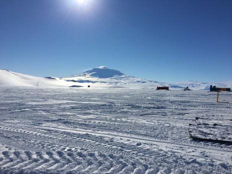 That's Mt Erebus (active volcano)